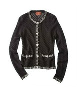 Missoni for Target Black Textured Knit Cardigan Sweater Jacket - Women's Large - $75.00