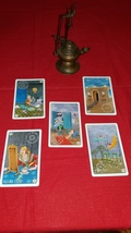 King Solomon Oracle Cards Reading with FIVE  cards make best possible choice - $25.55