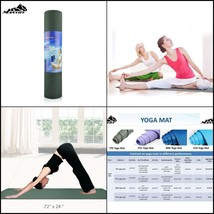 Yoga Mat Non Slip Eco Friendly Extra Thick High Density Anti-Tear Rubber... - $26.55