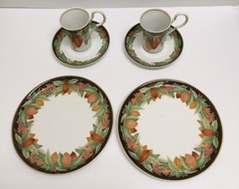 ❤6 CLASSIC ROSE ROSENTHAL GROUP GERMANY SALAD PLATE TEA CUP SAUCER LUNCH... - $30.00