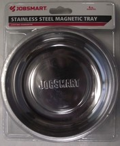 JobSmart 1006114 6 in. Round Stainless Magnetic Tray - $3.96