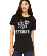 This Girl Loves Her Patriots football TShirt, New England Patriots fan t... - $19.79+
