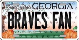 "MLB Atlanta Braves Fan License Plate State Background Metal Tag ""U.S.A.""... - $12.82"