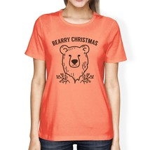 Bearry Christmas Bear Womens Peach Shirt - $14.99+