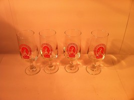 VINTAGE COORS BEER--SET OF 4--FOOTED STEMWARE  GLASSES--SHIPS FREE--EUC - $26.03