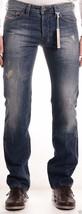 Diesel Safado 0RBE4 Men's Blue Distressed Regular Slim Straight Jeans - $92.79