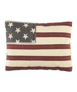 Olivia's Heartland patriotic Americana Stars & Stripes Flag Decorative Pillow - $36.99