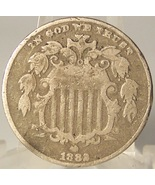 1882 Shield Nickel Fine #0651 - $24.99