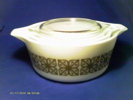 [Q11] 3 Pyrex Caserole Bowls 1, 1 1/2, 2 Quart Square Flowers - $31.89