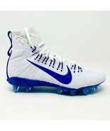 Nike Alpha Huarache 7 Elite LAX White Blue Mens Football Cleats CJ0224 101 - $69.95