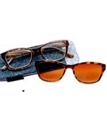 +1.50 Foster Grant Clear Readers w Removable Magnetic Sunglasses Clip Su... - $10.57