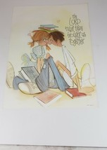 "Vintage Poster, young couple, Love, ""The Lord Must Have Brought Us Toget... - $19.99"