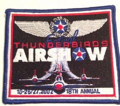 2002 Thunderbirds Airshow Patch 18th Annual Nellis Air Force Base USA NEW RARE - $16.69