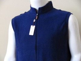 NWT PETER MILLAR 100% COTTON FULL-ZIP VEST ~ MEN'S LARGE  ~ MSRP $125.00  - $55.43
