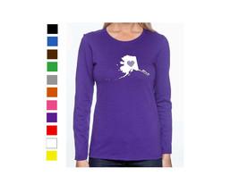 Alaska Long Sleeve Shirt Ladies Womens Love Home Heart T-Shirt State - $15.47+