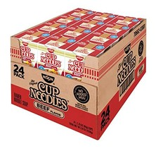 Product of Nissin Cup Noodles Beef Flavor Soup, 24 pk./2.25 oz. [Biz Discount] - $24.58