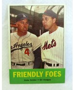 DUKE SNIDER/GIL HODGES 1963 TOPPS FRIENDLY FOES CARD#68 EX/MINT+ GRADE-H... - $19.79