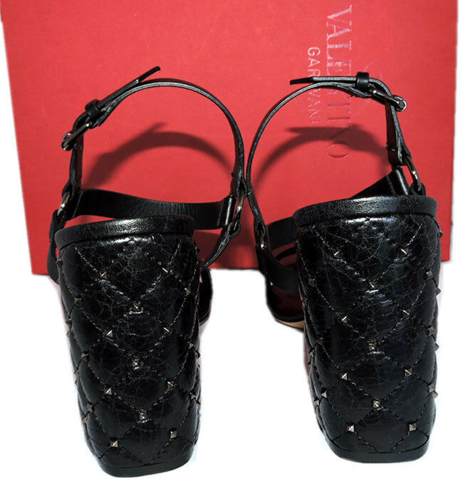 """Valentino Rockstuds Gratis Pinchos """"Acolchado Sandalias de Cuero 40 Zapatillas image 5"""
