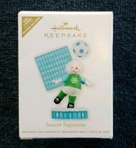 "Hallmark Keepsake ""Soccer Superstar"" Christmas Ornament Personalize Add Name New - $14.73"