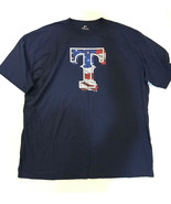 NWOT Fanatics 5X 5XL Texas Rangers Patriotic USA Flag T-Shirt - $25.62
