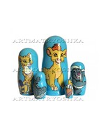 Exclusive 5pcs Handpainted The Lion Guard matryoshka doll, nesting doll... - $64.90