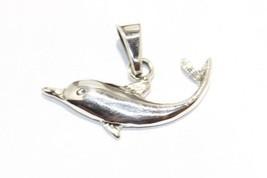 Delfin Anhänger Schwimmen Delphin .925 Sterling Silber Anhänger Ozean Leben - $14.86