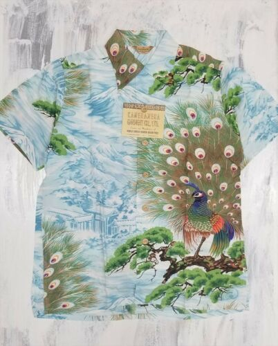 Primary image for SUN SURF aloha shirt Special Peacock Pattern S Size 2007 Model New