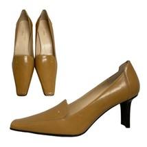 AK Anne Klein Iflex women's heels loafer shoes upper leather size US 8.5M - $28.88