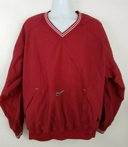 Nike Retro Vtg Crimson Red Pullover Windbreaker Jacket Size XL - $32.66