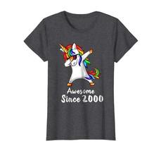Dad Shirts - 18 Years Old 18th Birthday Unicorn Dabbing Shirt 2000 Gift ... - $19.95+