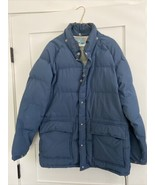 Vintage Struggle Gear Industrial Down Blue Jacket Mens Sz Medium M W. Ba... - $35.00