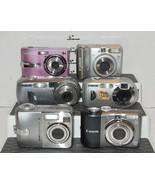 Lot of 8 Digital Cameras Parts or Repair Canon Sony Sanyo Kodak Vivitar - $34.65
