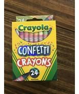 Crayola CONFETTI CRAYONS Walmart Exclusive 2020 24 Pack NEW - $7.38