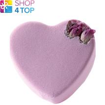Pink Rosebud Heart Bath Blaster Bomb Cosmetics Jasmine Rose Handmade Natural New - $5.83
