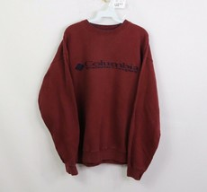 Vintage 90s Columbia Mens XL Spell Out Stitched Crewneck Sweatshirt Maro... - $35.59
