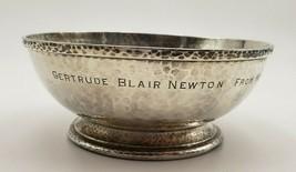 Vintage Hammered Arts & Crafts Sterling Silver Nut or Candy Dish #6944 - $195.00