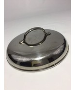 "Stainless Pot Pan Lid Only 6 3/8"" Diameter Steel Handle - $19.60"