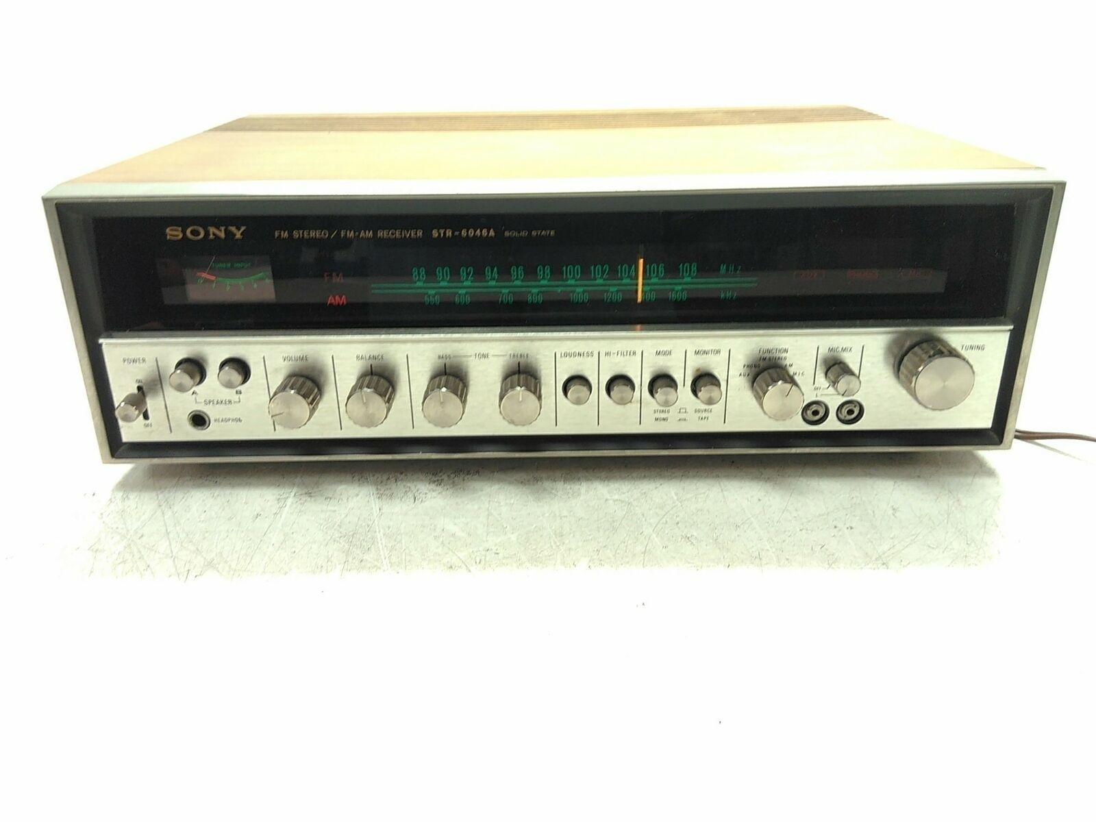 Defective Sony STR-6046A FM-AM Solid State Receiver Loud Static AS-IS Parts - $79.20