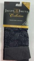 Vintage 1 Pair JACLYN SMITH Black Textured Trouser Socks Plus fits 10-12 - $13.85