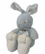 Vtg Carters Prestige Toy Plush Blue Bunny Rabbit Big Feet Bean Filled Si... - $25.00
