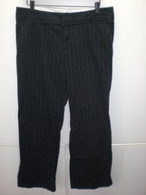 W14019 Womens OLD NAVY Black Pinstripe Boot Cut DRESS PANTS Slacks 12P - $13.08