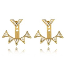 docona Spalking Crystal Jacket Flower Stud Earrings For Women Fashion Je... - $20.00