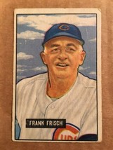 1951 Bowman #282 Frank Frisch Baseball Card VG/VG+ Chicago Cubs RF1 - $19.99