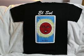EL SOL SUN MEXICAN LOTERIA CARD BINGO NUMBER 46 T-SHIRT - $11.77