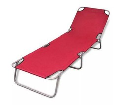 Sun Lounger With Adjustable Backrest Outdoor Foldable Beach Camping Chai... - $73.09