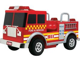 KIDS RIDE ON FIRE TRUCK LOOKS AUTHENTIC 12V WORKING PA SYSTEM, LIGHTS, SOUNDS image 1