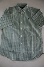 Ralph Lauren Boys Short Sleeve Cotton Button Down Shirt size M - $12.86