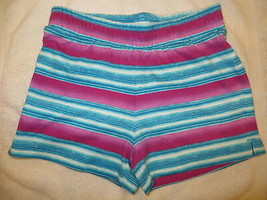 Gymboree Mix N Match Striped Blue Purple Knit Shorts Size S Small 5-6 5 6 - $15.76