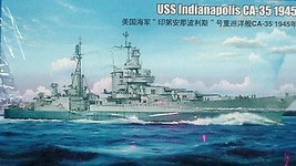 Trumpeter 1/350 USS Heavy Cruiser  Indianapolis CA-35 1945 kit 05326 image 1
