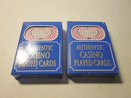 2 PACKS AUTHENTIC CASINO PLAYED CARDS FROM PLEASURE PIT CASINO - $9.99